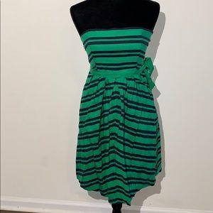 Moulinette soeurs striped navy green strapless